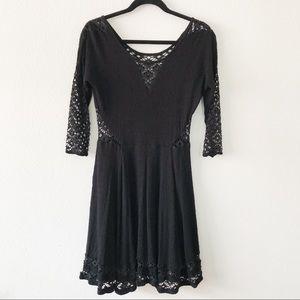 Free People Black Fit to Flare Dress Size Medium